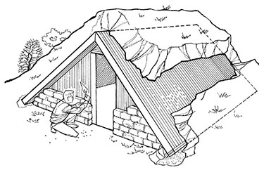 above ground a-frame shelter